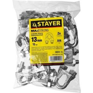 Зажим троса Stayer DIN 741, 13 мм 15шт (30535-13)