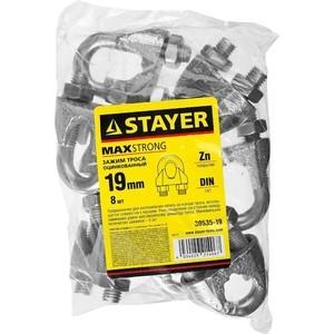 Зажим троса Stayer DIN 741, 19 мм 8шт (30535-19)