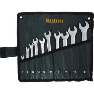 Набор ключей комбинированных Kraftool 10шт 6-22 мм (27079-H10) набор бит kraftool compact 10 26130 h10
