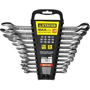 Набор ключей комбинированных Stayer 12шт 8-24 мм (27085-H12) набор комбинированных гаечных ключей в держателе 8 шт fit 63416 8 19 мм