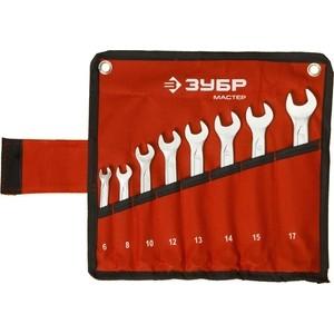 Набор ключей комбинированных Зубр 8шт 6-17 мм (27087-H8) набор ключей 8шт wiha torx classic sb366r h8 34741