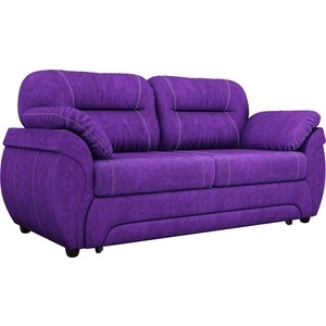 Диван прямой АртМебель Бруклин велюровый фиолетовый
