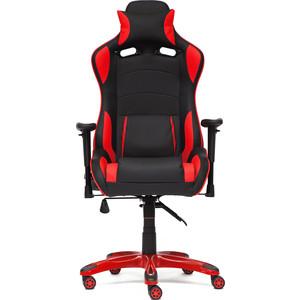 Кресло TetChair iForce кож/зам, черный/черный карбон/красный кресло tetchair runner кож зам ткань черный жёлтый 36 6 tw27 tw 12