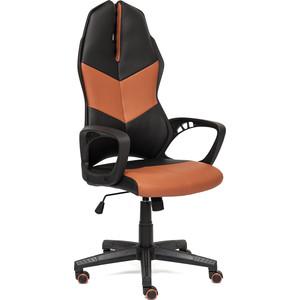 Кресло TetChair iWheel кож/зам, черный/коричневый
