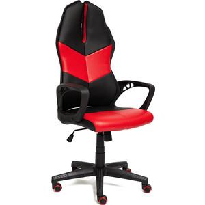 Кресло TetChair iWheel кож/зам, черный/красный