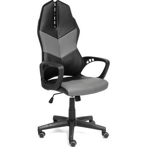 Кресло TetChair iWheel кож/зам, черный/серый