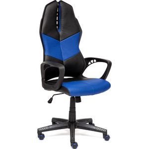 Кресло TetChair iWheel кож/зам, черный/темно-синий
