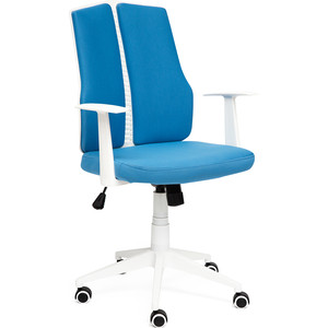 Кресло TetChair LITE белый, ткань, синий 281