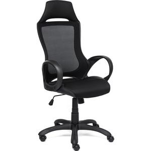 Кресло TetChair MESH-3 ткань, кож/зам, черный
