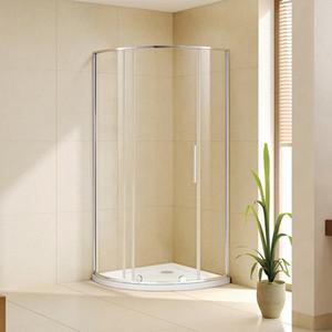 лучшая цена Душевой уголок Alvaro Banos Toledo 90x90 с поддоном, прозрачный, хром