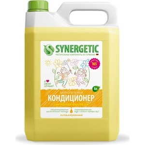 Кондиционер Synergetic для белья ЦВЕТОЧНАЯ ФАНТАЗИЯ , 5 л