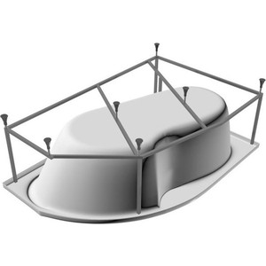 Каркас для ванны Koller Pool Montana 150x105 с монтажным набором (CMONTANA150)
