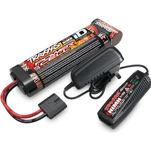 Аккумулятор + зарядное устройство TRAXXAS 7.2V 3000mAh NiMH TRX Plug + Fast Charger 2-amp - TRA2983G topcon charger the charger tbb 2 bc 27cr total station topcon charger