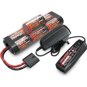 Аккумулятор + зарядное устройство TRAXXAS 8.4V 3000mAh NiMH TRX Plug + Fast Charger 2-amp - TRA2984G topcon charger the charger tbb 2 bc 27cr total station topcon charger