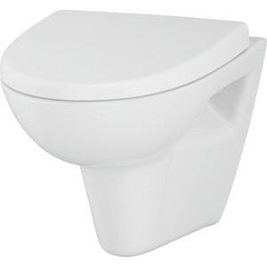 Унитаз подвесной Cersanit Parva Clean ON с сиденьем микролифт (S-MZ-PARVA-COn-DL-w) cersanit p mz olimpia