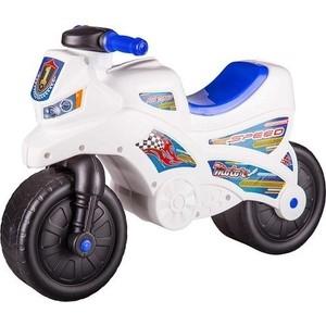 Каталка Альтернатива Мотоцикл белый пластмастер игрушка каталка мотоцикл