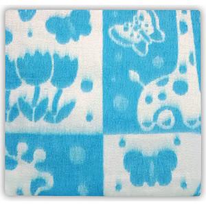 Одеяло байковое Осьминожка х/б 100*132 голубой