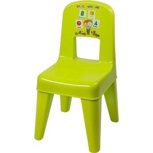 Стульчик детский Little Angel Детский стул Я расту Обучайка зелёный р-р 30*32*58см (уп2)