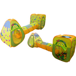 Ching-Ching CBH-24 2 игровых домика и туннель (100 шариков CBH-24 цветной) цены онлайн