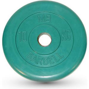 Диск MB Barbell обрезиненный d 51 мм цветной 10,0 кг (зеленый) цена