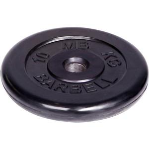 Диск MB Barbell обрезиненный d 51 мм черный 10,0 кг