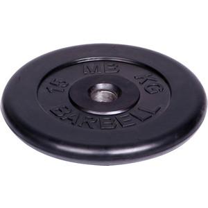 Диск MB Barbell обрезиненный d 51 мм черный 15,0 кг