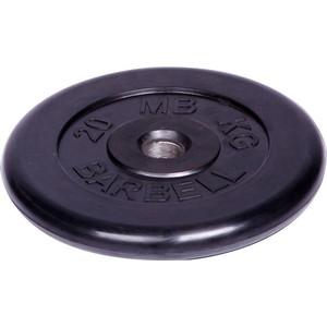 Диск MB Barbell обрезиненный d 51 мм черный 20,0 кг