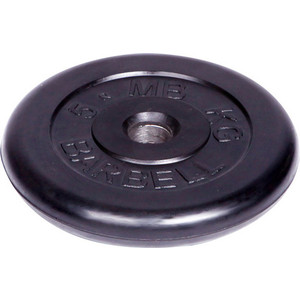 Диск MB Barbell обрезиненный d 51 мм черный 5,0 кг недорого
