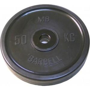 Диск MB Barbell олимпийский d 51 мм черный 50,0 кг цена