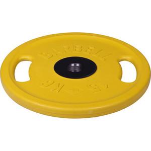 Диск MB Barbell олимпийский с ручками d 51 мм цветной 15,0 кг (желтый) цена