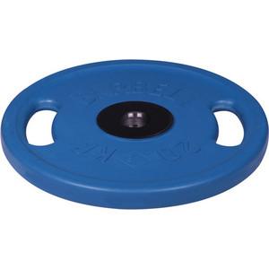 цена на Диск MB Barbell олимпийский с ручками d 51 мм цветной 20,0 кг (синий)
