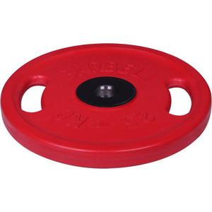 Диск MB Barbell олимпийский с ручками d 51 мм цветной 25,0 кг (красный)