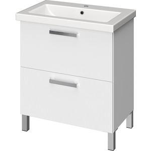 Тумба с раковиной Cersanit Melar 70 белая (B-SU-MEL-CM70, S-UM-COM70/1-w) мебель для ванной cersanit melar 70 белая