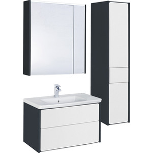 Мебель для ванной Roca Ronda 70 антрацит/белый глянец