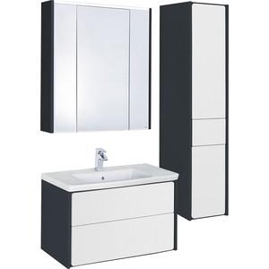 Мебель для ванной Roca Ronda 80 антрацит/белый глянец