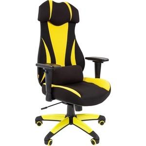 Офисноекресло Chairman game 14 ткань черный/желтый