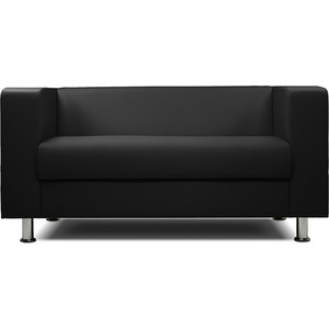 цена на Диван офисный Шарм-Дизайн Бит экокожа черный