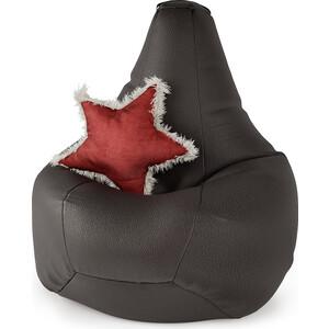 Кресло Шарм-Дизайн Груша экокожа коричневый