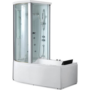 Акриловая ванна Gemy 170x85 с гидромассажем (G8040 B L)