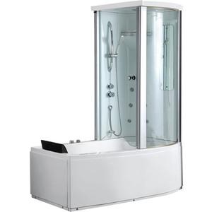 Акриловая ванна Gemy 170x85 с гидромассажем (G8040 B R) акриловая ванна gemy g9052 ii k r