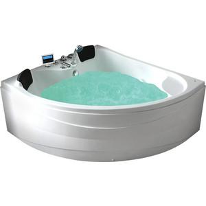 Акриловая ванна Gemy 150x150 с гидромассажем (G9041 K) акриловая ванна gemy g9052 ii k r