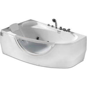 Акриловая ванна Gemy 161x96 с гидромассажем (G9046 B L) фото