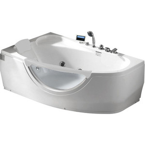 Акриловая ванна Gemy 171x99 с гидромассажем (G9046 II K L) акриловая ванна gemy 187x187 с гидромассажем g9089 k l