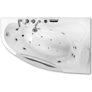 Акриловая ванна Gemy 161x96 с гидромассажем (G9046 K R) акриловая ванна gemy g9052 ii k r