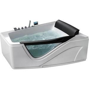Акриловая ванна Gemy 170x130 с гидромассажем (G9056 K R) акриловая ванна gemy g9052 ii k r