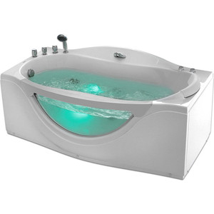 Акриловая ванна Gemy 171x92 с гидромассажем (G9072 B L)