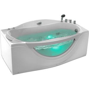 Акриловая ванна Gemy 171x92 с гидромассажем (G9072 B R) акриловая ванна gemy g9052 ii k r