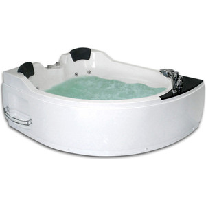 Акриловая ванна Gemy 170x133 с гидромассажем (G9086 B L)