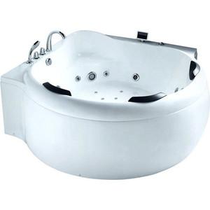 Акриловая ванна Gemy 185x185 с гидромассажем (G9088 K) акриловая ванна gemy g9052 ii k r