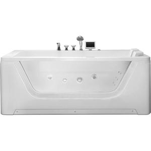 Акриловая ванна Gemy 172x121 с гидромассажем (G9226 K) акриловая ванна gemy g9052 ii k r